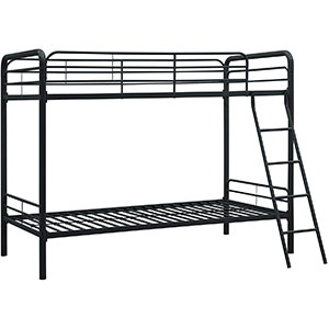dhp twin-over-twin metal bunk bed