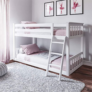 max & lily low bunk bed